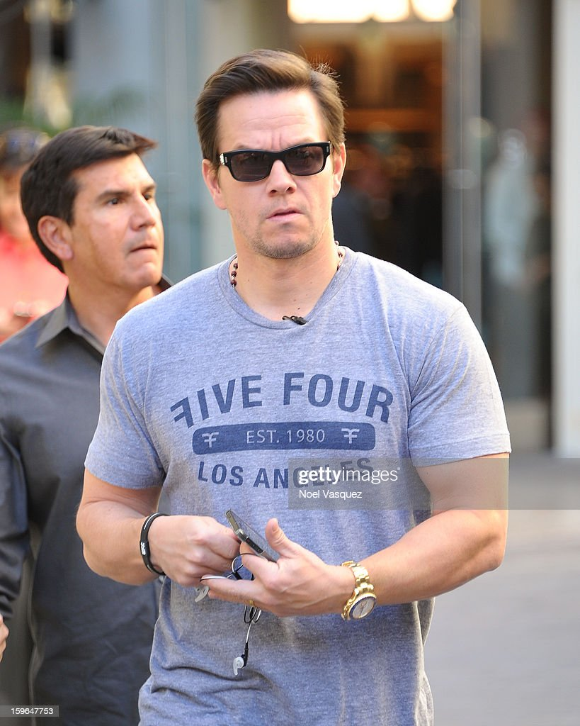 Mark Wahlberg is sighted at The Grove on January 17, 2013 in Los Angeles, California.