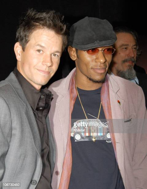 """Mark Wahlberg, Mos Def and Robert De Niro during 2003 Tribeca Film Festival - """"The Italian Job"""" Premiere at Tribeca Performing Arts Center in New..."""
