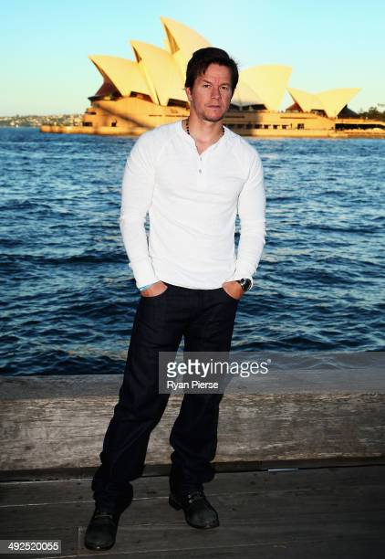 Mark Wahlberg poses during a photo call for 'Transformers Age Of Extinction' at the Overseas Passenger Terminal on May 21 2014 in Sydney Australia