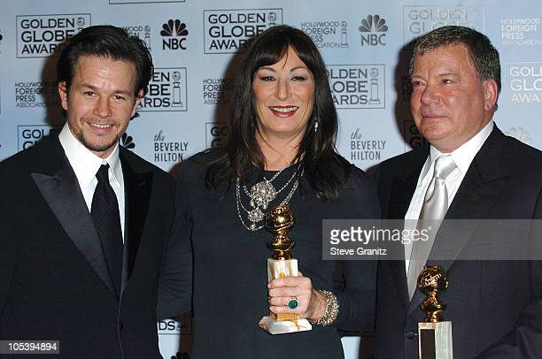 Mark Wahlberg presenter Anjelica Huston winner of Best Actress in a Supporting Role Series MiniSeries or Television Movie for Iron Jawed Angels and...