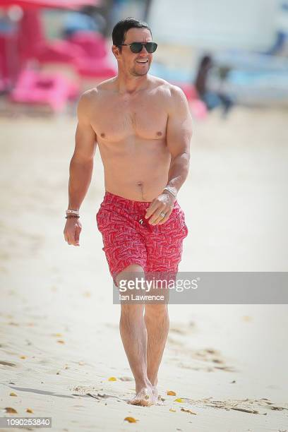 Mark Wahlberg seen outside the Sandy Lane Hotel on January 05, 2019 in Barbados, Caribbean.