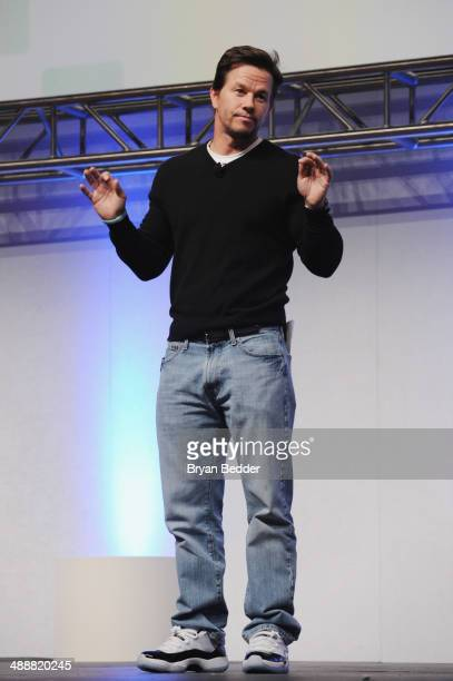 Mark Wahlberg speaks onstage at the 2014 A+E Networks Upfront on May 8, 2014 in New York City.