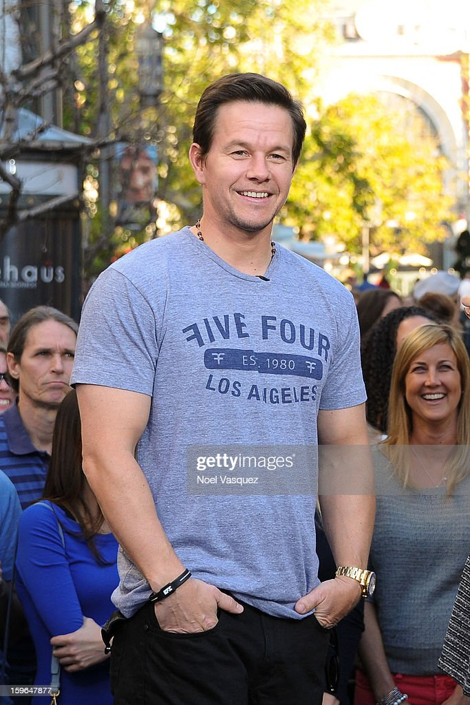 Mark Wahlberg visits Extra at The Grove on January 17, 2013 in Los Angeles, California.