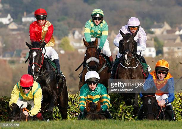 Mark Walsh riding Cantlow on their way to winning The Glenfaclas Cross Country Handicap Steeple Chase at Cheltenham Racecourse on December 9 2016 in...
