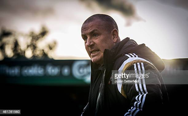 Mark Warburton Manager of Brentford FC looks on during the Sky Bet Championship match between Brentford and Rotherham United at Griffin Park on...
