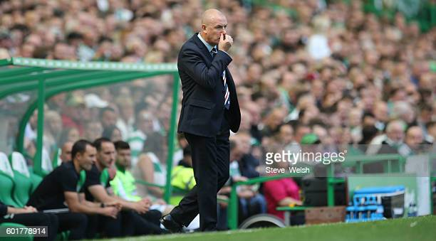 Mark Warburton Manager of Rangers during the Ladbrokes Scottish Premiership match between Celtic and Rangers on September 10 2016 in Glasgow