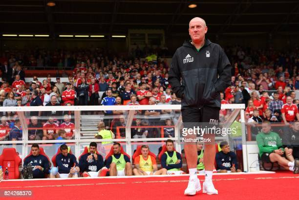 Mark Warburton managers of Nottingham Forest looks on during the pre season friendly match between Nottingham Forest and Burnley at the City Ground...
