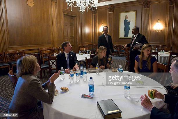 Mark Warner DVA along with his daughters Gillian Madison Eliza wife Lisa Collis and father Robert Warner enjoy a private lunch in the Mansfield room...