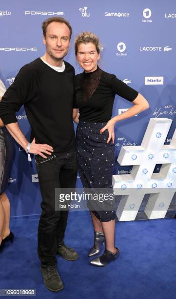 Mark Waschke and Anke Engelke attend the Blue Hour Party hosted by ARD during the 69th Berlinale International Film Festival at Haus der...
