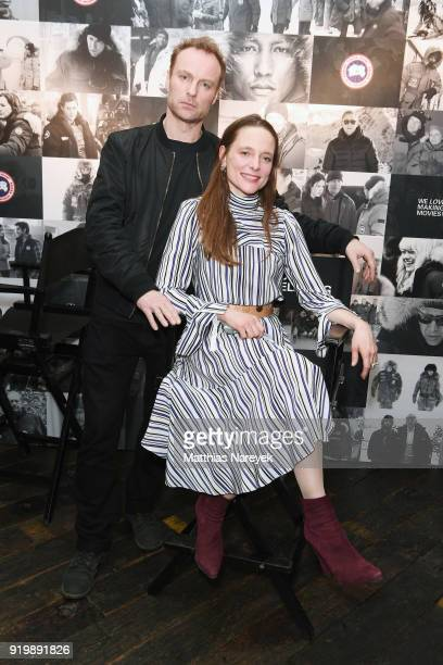 Mark Waschke and Anne RattePolle attend the Studio Babelsberg Night X Canada Goose on the occasion of the 68th Berlinale International Film Festival...
