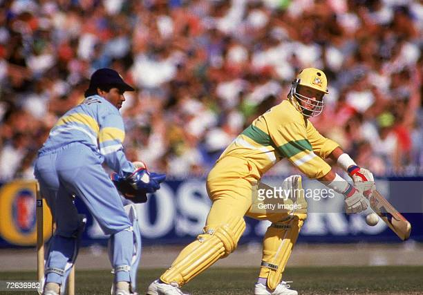 Mark Waugh of Australia in action during the Benson Hedges World Series 2nd Final match between Australia and India at the Sydney Cricket Ground...