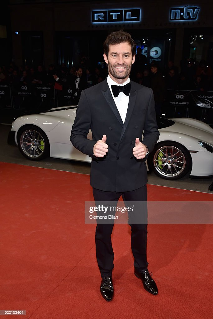 Mark Webber arrives at the GQ Men of the year Award 2016 (german: GQ Maenner des Jahres 2016) at Komische Oper on November 10, 2016 in Berlin, Germany.