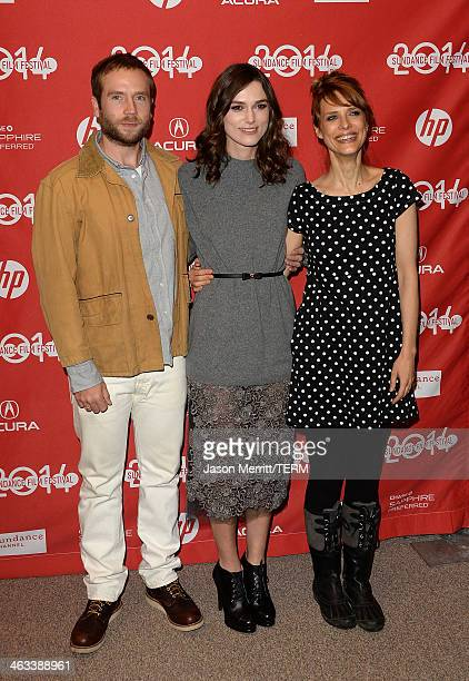 Mark Webber Keira Knightley and Lynn Shelton attend the 'Laggies' premiere at Eccles Center Theatre during the 2014 Sundance Film Festival on January...