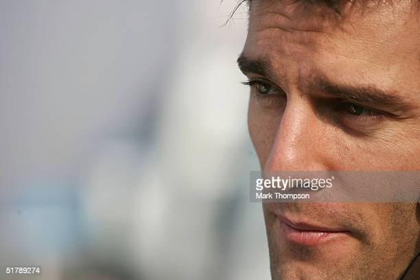 Mark Webber of Australia and BMW Williams, during Formula One testing at the Circuit De Catalunya on November 24, 2004 in Barcelona, Spain.