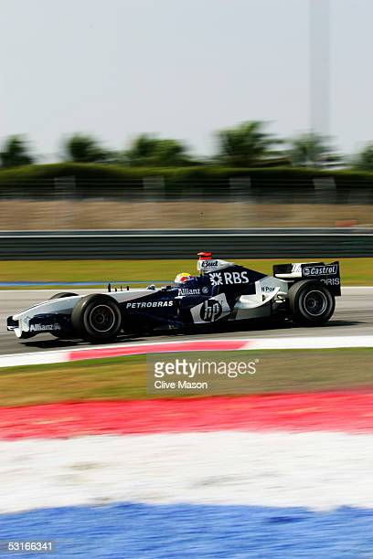 Mark Webber of Australia and BMW Williams during practice prior to qualifying for the Malaysian Formula One Grand Prix at Sepang Circuit on March 19...