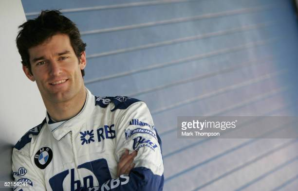Mark Webber of Australia and BMW Williams poses in pitlane during testing at Circuito de Jerez February 8 2005 in Jerez Spain