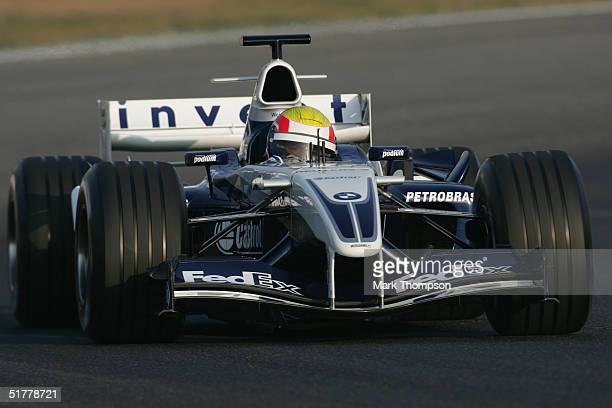 Mark Webber of Australia and BMW Williams takes his first drive for his new team, During Formula One testing at the Circuit De Catalunya November 23,...