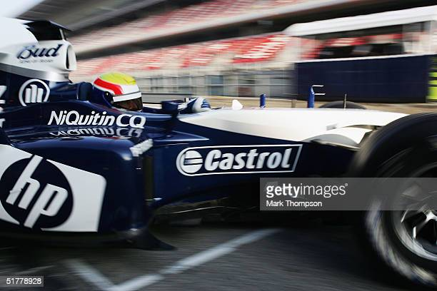 Mark Webber of Australia and BMW Williams takes his first drive for his new team, During Formula One testing at the Circuit De Catalunya, on November...