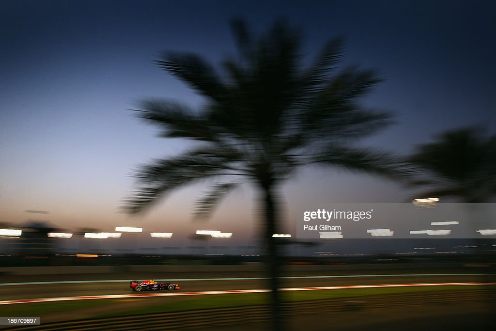 Mark Webber of Australia and Infiniti Red Bull Racing drives during the Abu Dhabi Formula One Grand Prix at the Yas Marina Circuit on November 3, 2013 in Abu Dhabi, United Arab Emirates.