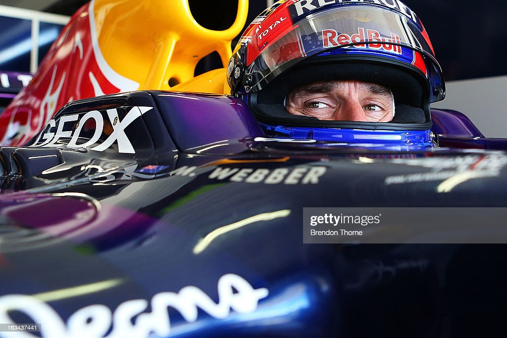 Mark Webber of Australia and Infiniti Red Bull Racing prepares to drive during the Top Gear Festival at Sydney Motorsport Park on March 10, 2013 in Sydney, Australia.