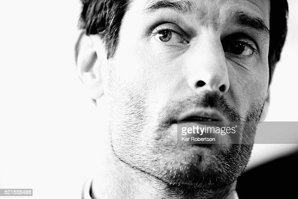 Mark Webber of Australia and Porsche Team 919 Hybrid talks to the media during previews the FIA World Endurance Championship Six Hours of Silverstone...