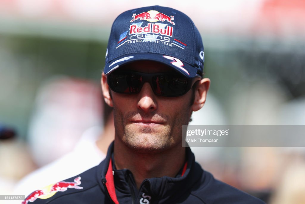 33f35ef0bf3 Mark Webber of Australia and Red Bull Racing attends the drivers ...