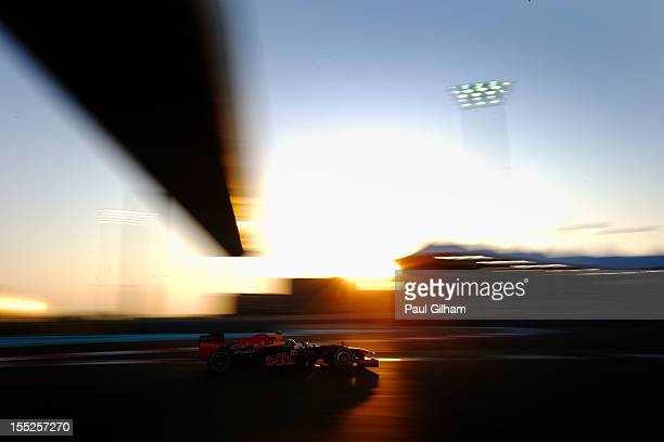 Mark Webber of Australia and Red Bull Racing drives during practice for the Abu Dhabi Formula One Grand Prix at the Yas Marina Circuit on November 2,...