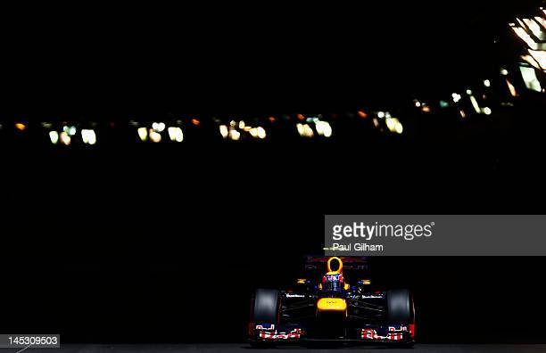 Mark Webber of Australia and Red Bull Racing drives during qualifying for the Monaco Formula One Grand Prix at the Circuit de Monaco on May 26 2012...