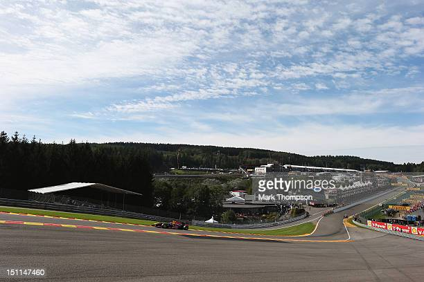 Mark Webber of Australia and Red Bull Racing drives during the Belgian Grand Prix at the Circuit of Spa Francorchamps on September 2 2012 in Spa...