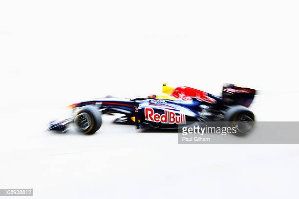 Mark Webber of Australia and Red Bull Racing in action during a Red Bull filming day prior to F1 testing at the Circuito De Jerez on February 8 2011...