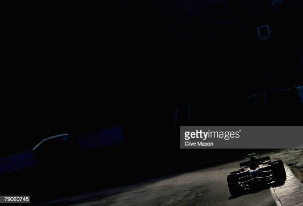 Mark Webber of Australia and Red Bull Racing in action during a test at the Circuito de Jerez on January 15 in Jerez de la Frontera, Spain.