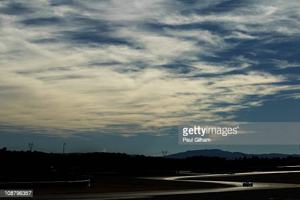Mark Webber of Australia and Red Bull Racing in action during day three of winter testing at the Ricardo Tormo Circuit on February 3, 2011 in...
