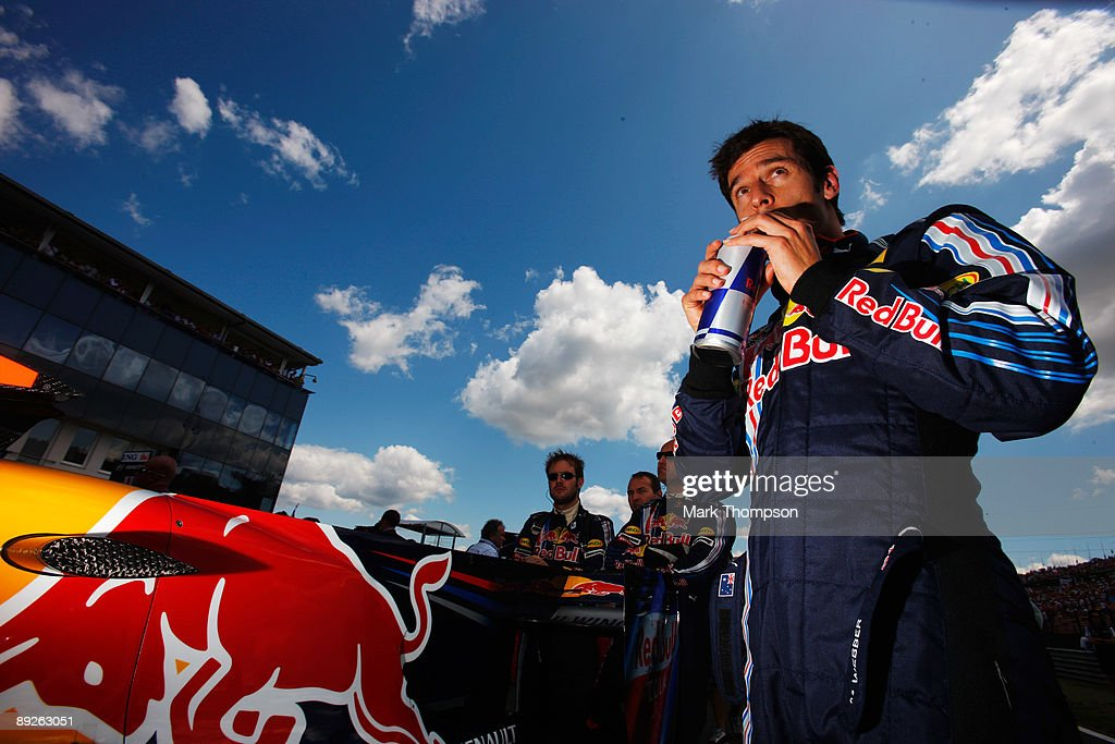 Mark Webber of Australia and Red Bull Racing is seen on the grid as he prepares to drive during the Hungarian Formula One Grand Prix at the Hungaroring on July 26, 2009 in Budapest, Hungary.