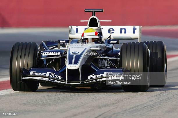 Mark Webber of Australia and team BMW Williams, During Formula One testing at the Circuit De Catalunya, on November 25, 2004 in Barcelona, Spain.