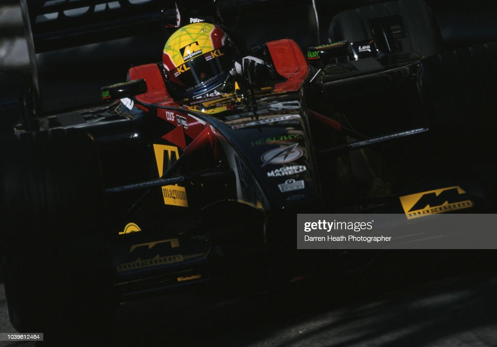 Mark Webber of Australia driving the #23 KL Minardi Asiatech Minardi PS02 Asiatech V10 during the Formula One Monaco Grand Prix on 26 May 2002 at the Circuit de Monaco, Monte-Carlo, Monaco.