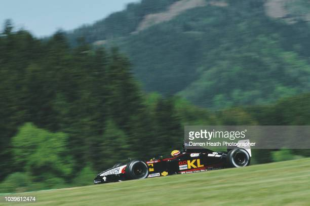 Mark Webber of Australia driving the KL Minardi Asiatech Minardi PS02 Asiatech V10 during the Formula One Austrian Grand Prix on 12 May 2002 at the...