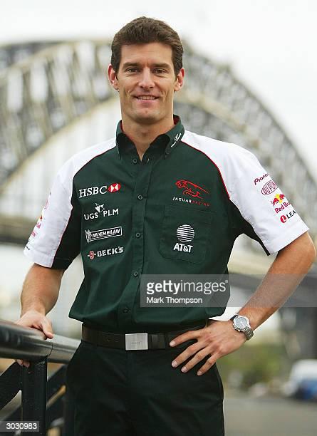 Mark Webber of Jaguar Racing F1 team and Australia is seen at Circular Quay March 2, 2004 in Sydney, Australia.