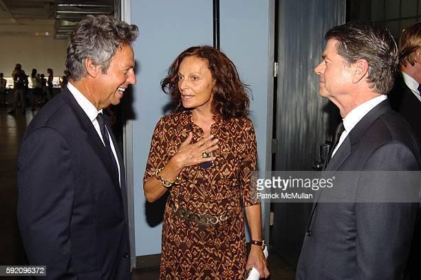 Mark Weber, Diane von Furstenberg and Tom Murray attend Calvin Klein Spring 2006 Collection at Milk Studio on September 15, 2005 in New York City.