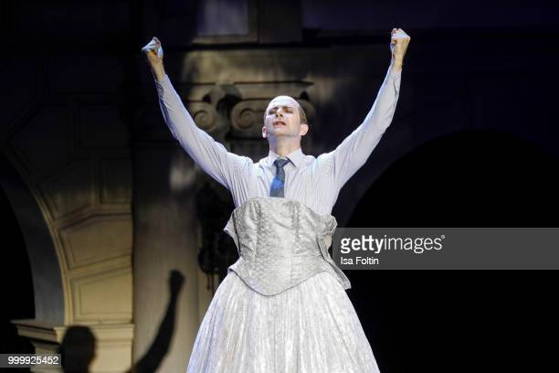Mark Weigel as Peron during the Thurn Taxis Castle Festival 2018 'Evita' Musical on July 15 2018 in Regensburg Germany