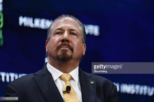 Mark Weinberger global chairman and chief executive officer of Ernst Young LLP listens during the Milken Institute Global Conference in Beverly Hills...