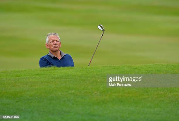 Mark Weller of Cuckfield Golf Club plays a chip shot to the 15th green during the first round of the Lombard Trophy Grand Final at Gleneagles on...