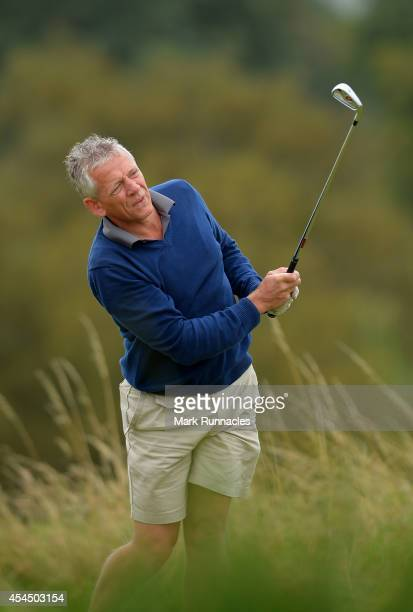 Mark Weller of Cuckfield Golf Club watches his drive at the 7th during the first round of the Lombard Trophy Grand Final at Gleneagles on September 2...