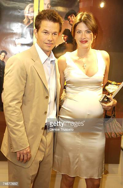 """Mark Whalberg With Girlfriend Rhea Durham during """"The Italian Job"""" Movie Premiere at the The Palms A Maloof Casino Resort in Las Vegas, Nevada."""