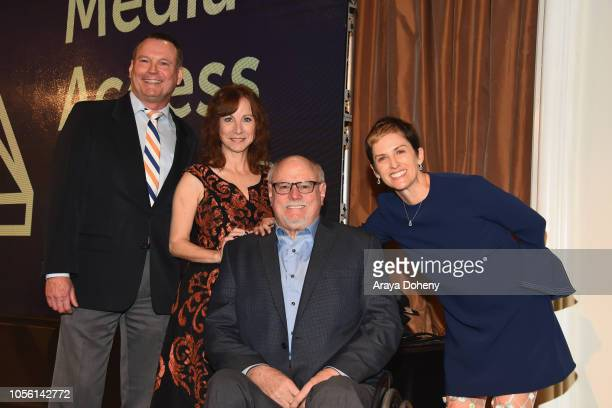 Mark Whitley President Chief Development Officer Nancy Weintraub Alan Rucker and Deborah Calla attend the Media Access Awards 2018 on November 1 2018...