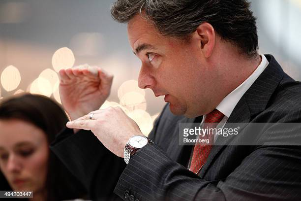 Mark Wiedman global head of BlackRock Inc's iShares Exchange Traded Funds unit speaks during an interview in New York US on Wednesday May 28 2014...
