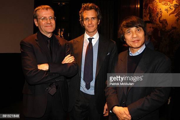 Mark Wigley Alessandro Benetton and Tadao Ando attend Architecture for Benetton a conversation between Tadao Ando and Alessandro Benetton at New York...