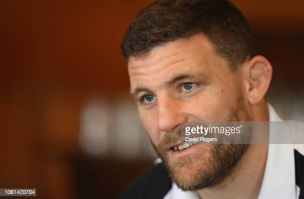 Mark Wilson faces the media during the England media session held at Pennyhill Park on November 14 2018 in Bagshot England
