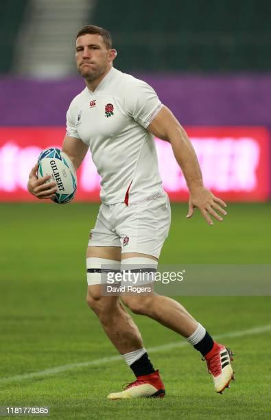 Mark Wilson looks on during the England captain's run at Oita Stadium on October 18 2019 in Oita Japan