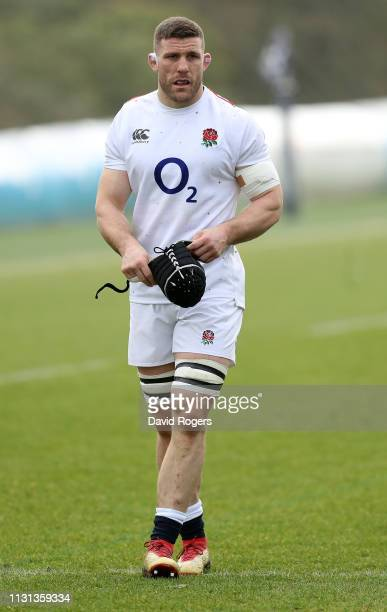 Mark Wilson looks on during the England captains run held at Pennyhill Park on February 22, 2019 in Bagshot, England.