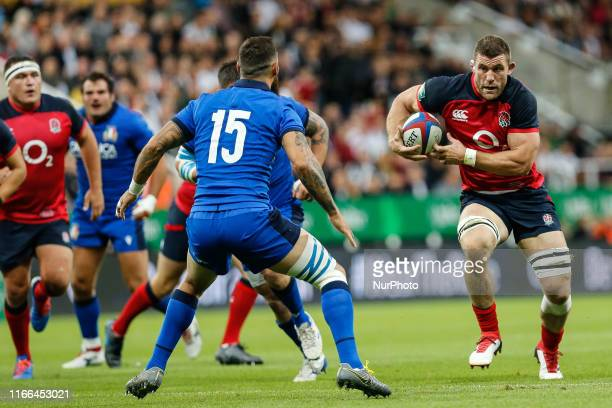 Mark Wilson of England bursts through during the Quilter Autumn International match between England and Italy at St James's Park Newcastle on Friday...